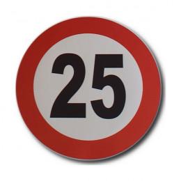 25 km/h speed limit sticker