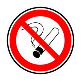 """Disque """"défense de fumer"""" Ø80"""