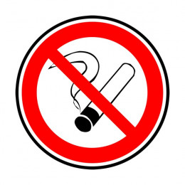 No smoking sticker Ø80