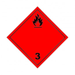 Red flammable liquid class...