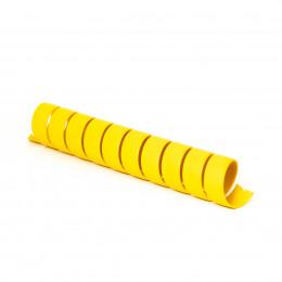 Gaine spiralee jaune 25x3...
