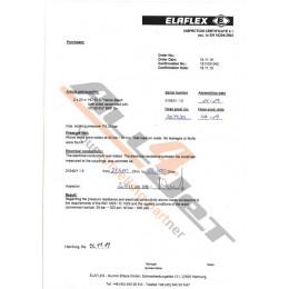 Elaflex hose certificate /...